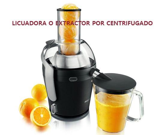 licuadora o extractor por centrifugación