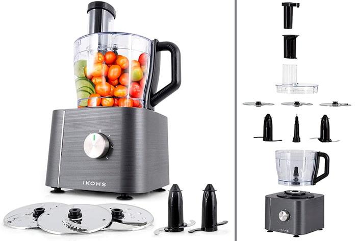 IKOHS KUTCREW - Procesador de Alimentos, Robot de Cocina Multifunción