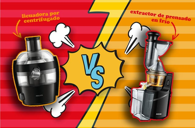 licuadoras baratas (centrifugado y prensado en frío)