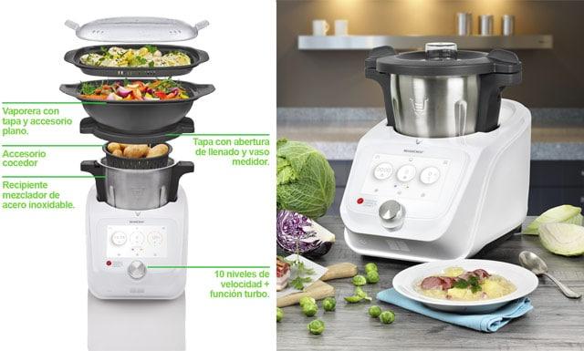 robot de cocina monsieur cuisine connect del LIDL