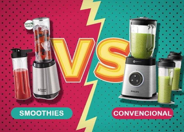 Batidora para smoothies vs convencional