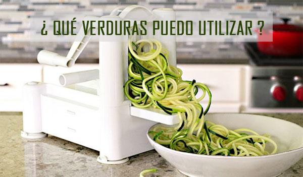 verduras compatibles para un cortador