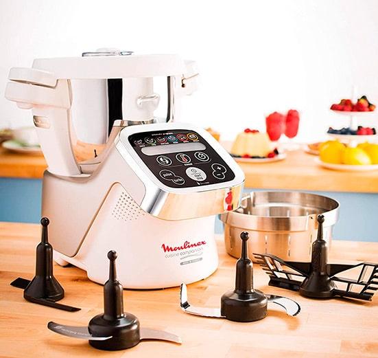 accesorios y cestillo del robot de cocina