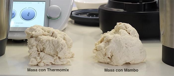 Masa de pan con Mambo 9090 y con Thermomix TM6