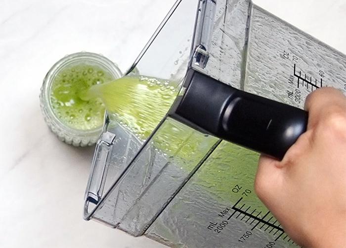 batido verde con la batidora de vaso de Cecotec