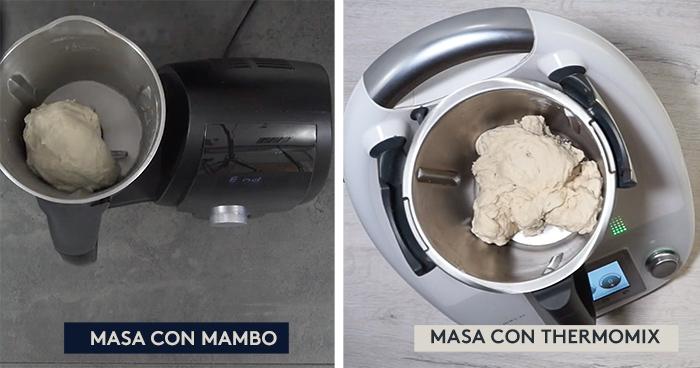 Masa de pan con Mambo vs Thermomix